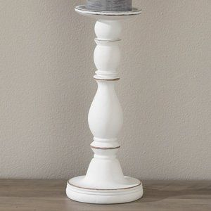 Signature Homestyles Candle Holder Whitewash - NWT